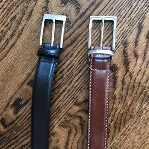 Lot of 2 men's leather belts